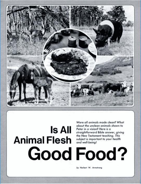 Is All Animal Flesh Good For Food